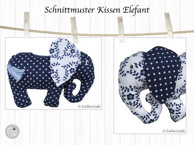 Produktfoto von CoelnerLiebe zum Nähen für Schnittmuster Nackenkissen Elefant