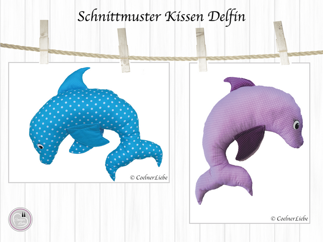 Produktfoto von CoelnerLiebe zum Nähen für Schnittmuster Nackenkissen Delfin
