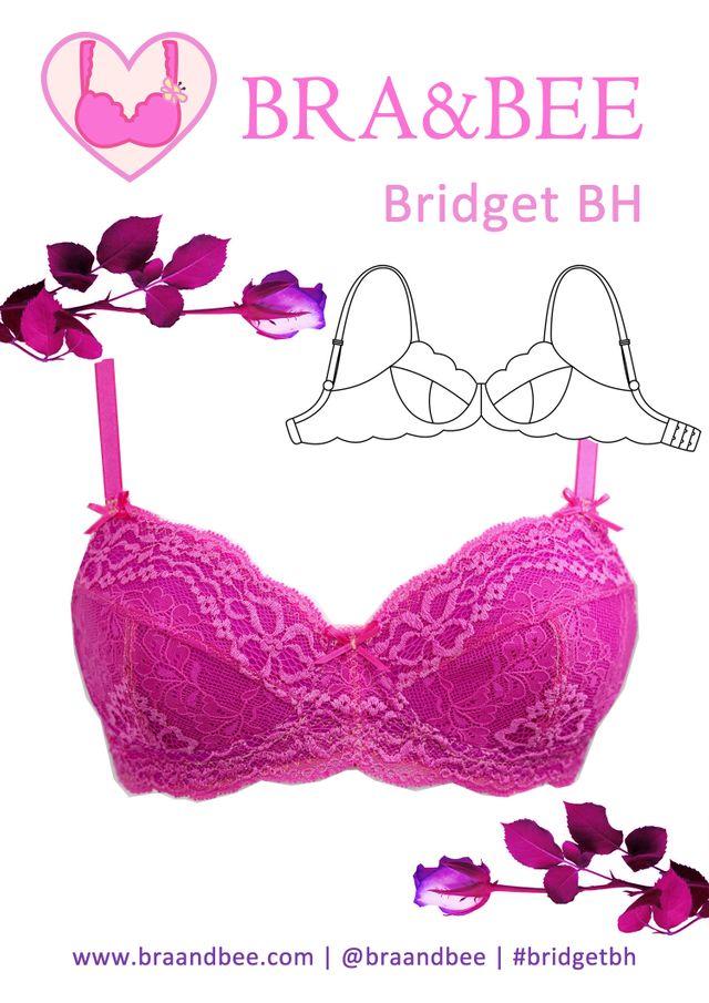 Produktfoto von Bra & Bee zum Nähen für Schnittmuster BH Bridget - Große Größen