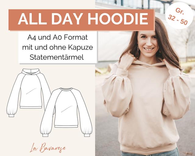 Produktfoto von La Bavarese zum Nähen für Schnittmuster Allday Hoodie/Sweater