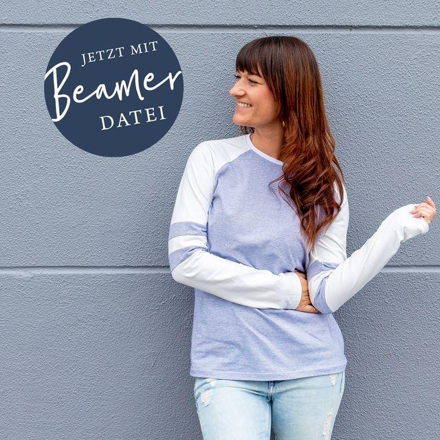 Produktfoto von lemon & mint Couture zum Nähen für Schnittmuster Raglanshirt Dublin