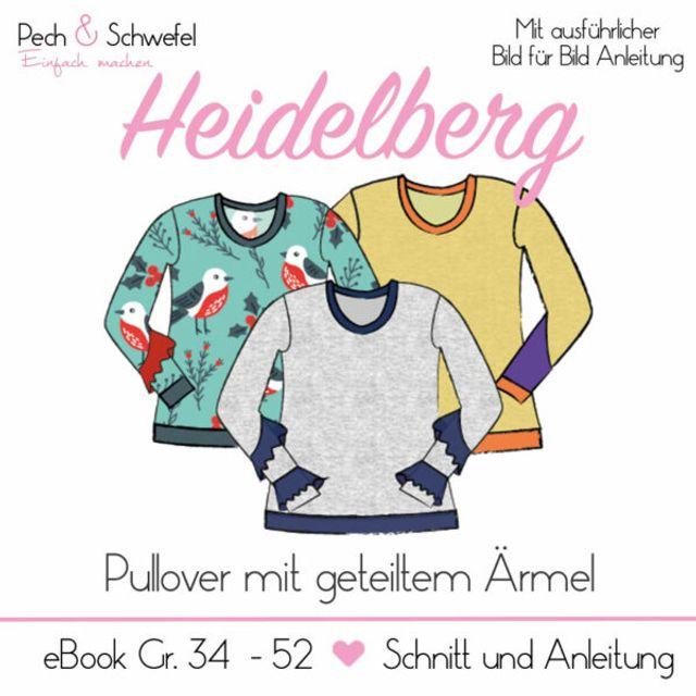 Produktfoto von Pech & Schwefel zum Nähen für Schnittmuster Pullover Heidelberg