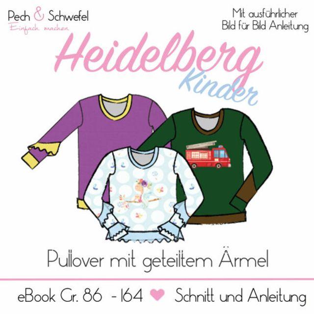 Produktfoto von Pech & Schwefel zum Nähen für Schnittmuster Pullover Heidelberg Kinder