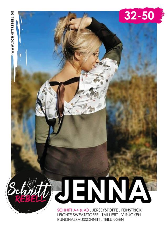 Produktfoto von Schnittrebell zum Nähen für Schnittmuster Pullover Jenna