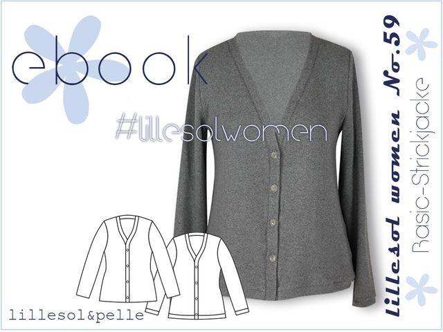Produktfoto von Lillesol & Pelle zum Nähen für Schnittmuster Lillesol Women No.59 Basic-Strickjacke