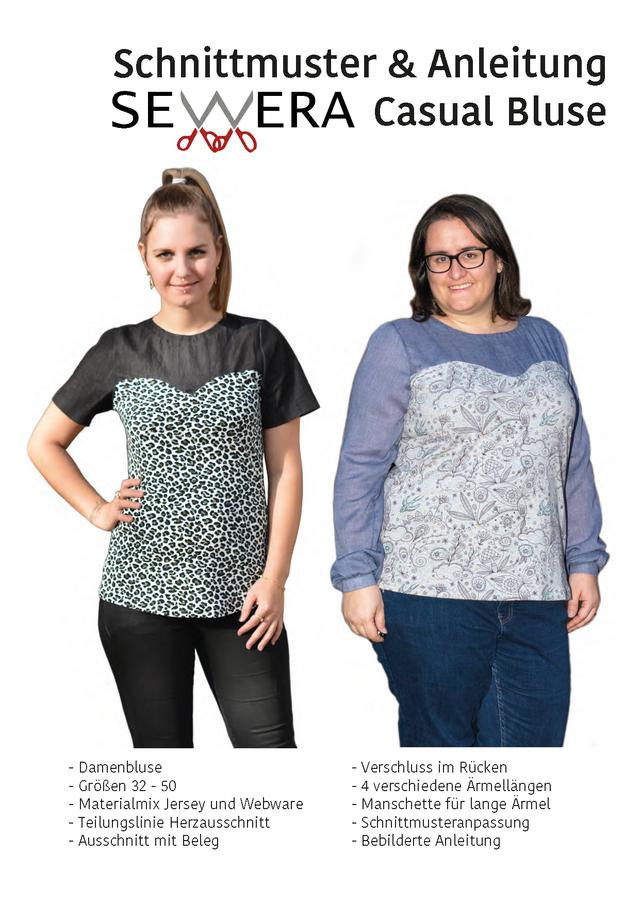 Produktfoto von sewera zum Nähen für Schnittmuster Casual Bluse