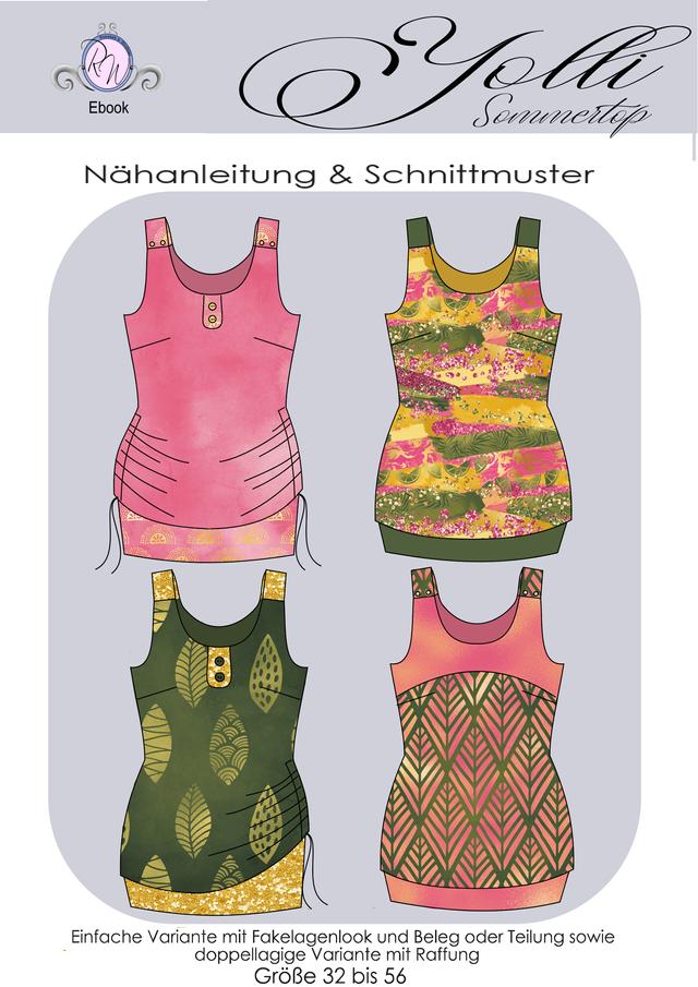 Produktfoto von Rosalieb & Wildblau zum Nähen für Schnittmuster Sommertop Yolli