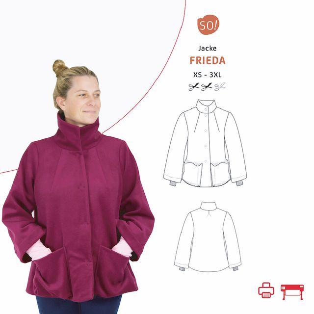 Produktfoto von SO Pattern zum Nähen für Schnittmuster Jacke Frieda
