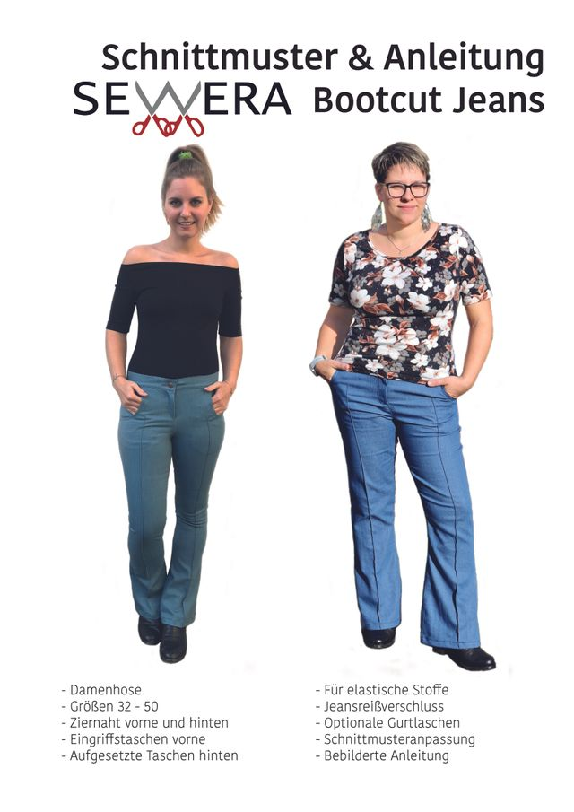 Produktfoto von sewera zum Nähen für Schnittmuster Bootcut Jeans