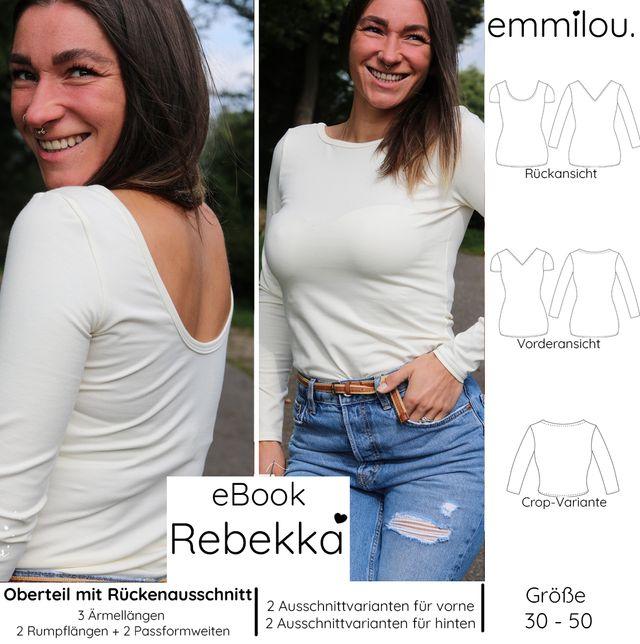Produktfoto von emmilou. zum Nähen für Schnittmuster Damenshirt Rebekka