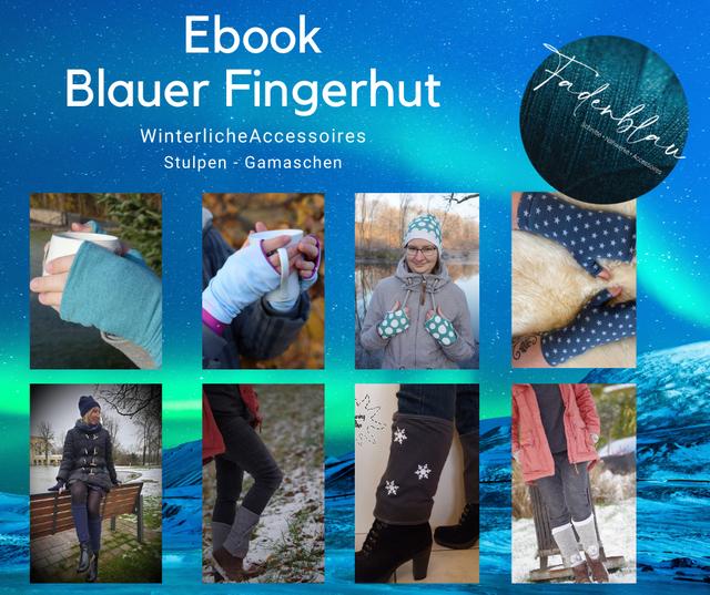 Produktfoto von Fadenblau zum Nähen für Schnittmuster Blauer Fingerhut // Blauschnee //Blauhagel