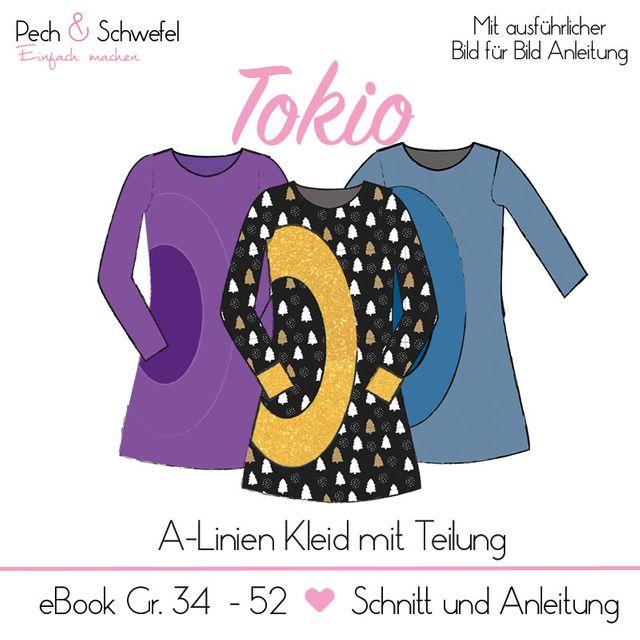 Produktfoto von Pech & Schwefel zum Nähen für Schnittmuster Kleid Tokio