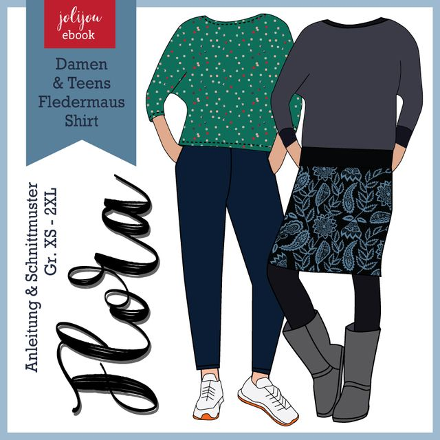 Produktfoto von Jolijou zum Nähen für Schnittmuster Shirt Flora