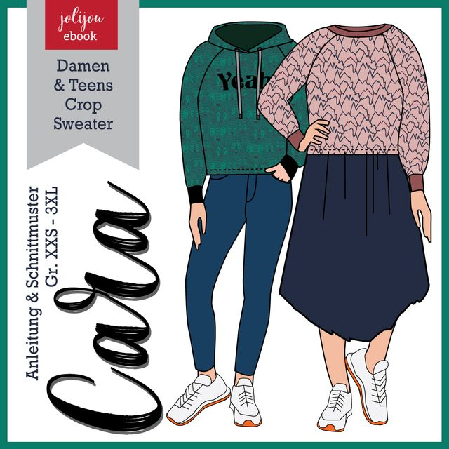 Produktfoto von Jolijou zum Nähen für Schnittmuster Sweatshirt  Cara