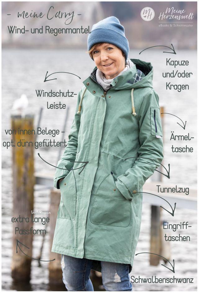 Produktfoto von Meine Herzenswelt zum Nähen für Schnittmuster Softshellmantel Damen - Meine Carry