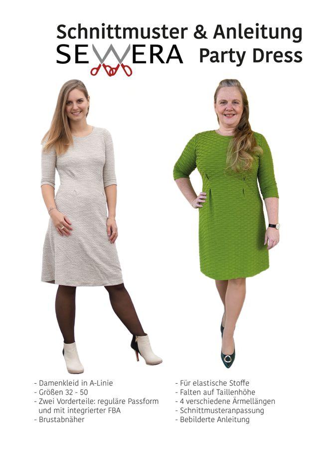 Produktfoto von sewera zum Nähen für Schnittmuster Party Dress