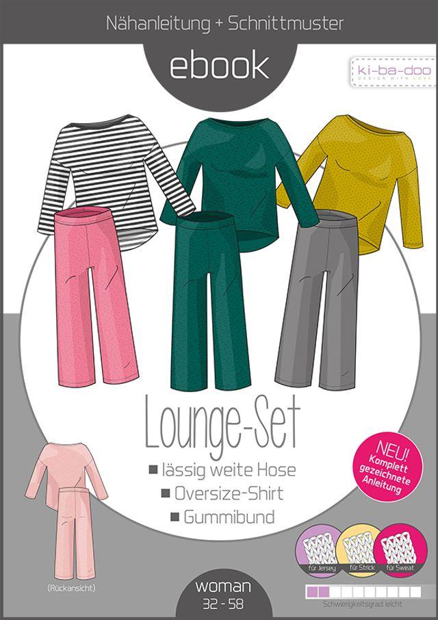 Produktfoto von ki-ba-doo zum Nähen für Schnittmuster Lounge-Set Damen