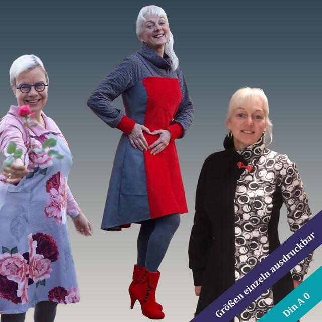 Produktfoto von Unendlich schön - Design Anita Lüchtefeld zum Nähen für Schnittmuster Tunika/Kleid Ginger - Winter Edition