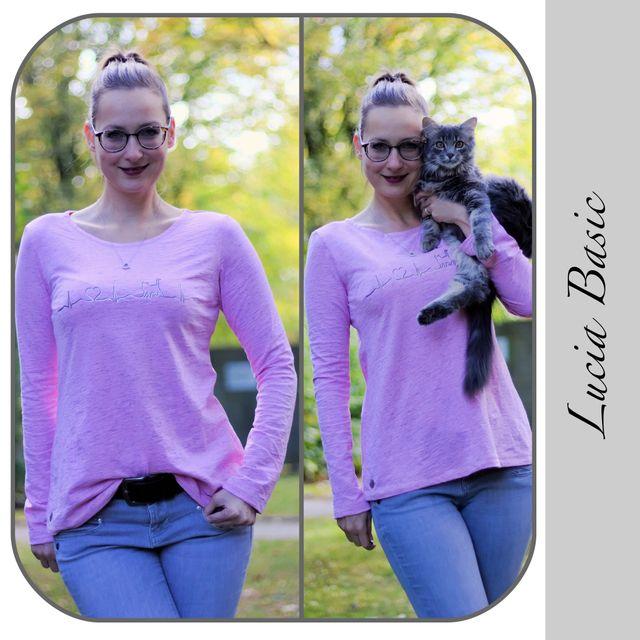Produktfoto von gialLino zum Nähen für Schnittmuster Shirt Lucia Basic