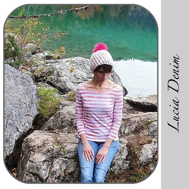 Produktfoto von gialLino zum Nähen für Schnittmuster Shirt Lucia Denim