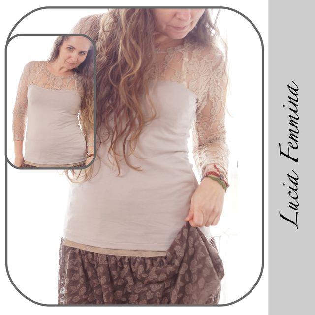 Produktfoto von gialLino zum Nähen für Schnittmuster Shirt Lucia Femmina