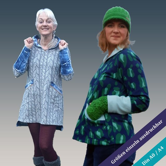 Produktfoto von Unendlich schön - Design Anita Lüchtefeld zum Nähen für Schnittmuster Pulli/Kleid  Nesrin
