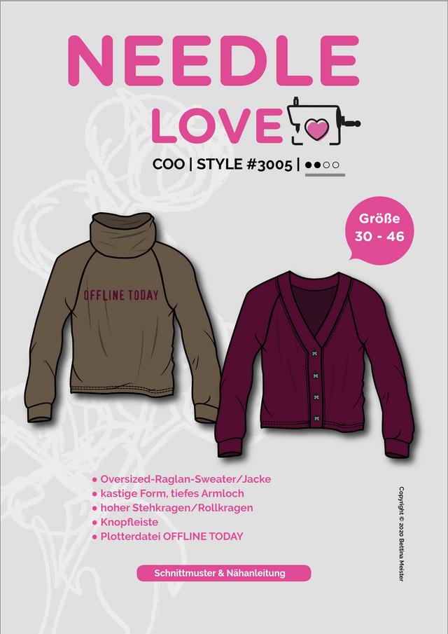 Produktfoto von {NEEDLE LOVE} zum Nähen für Schnittmuster COOsweater