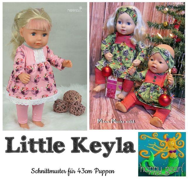 Produktfoto von Happy Pearl zum Nähen für Schnittmuster Little Keyla