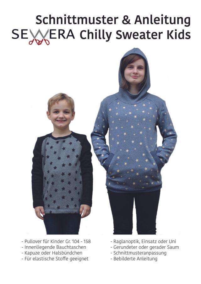Produktfoto von sewera zum Nähen für Schnittmuster Chilly Sweater Kids