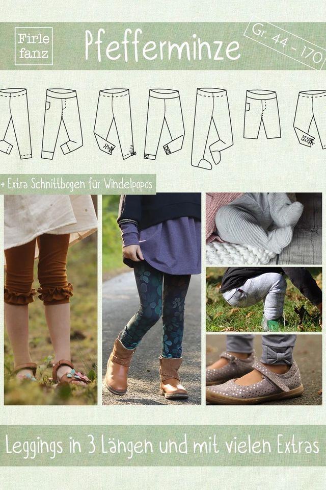 Produktfoto von Firlefanz zum Nähen für Schnittmuster Leggings Pfefferminze