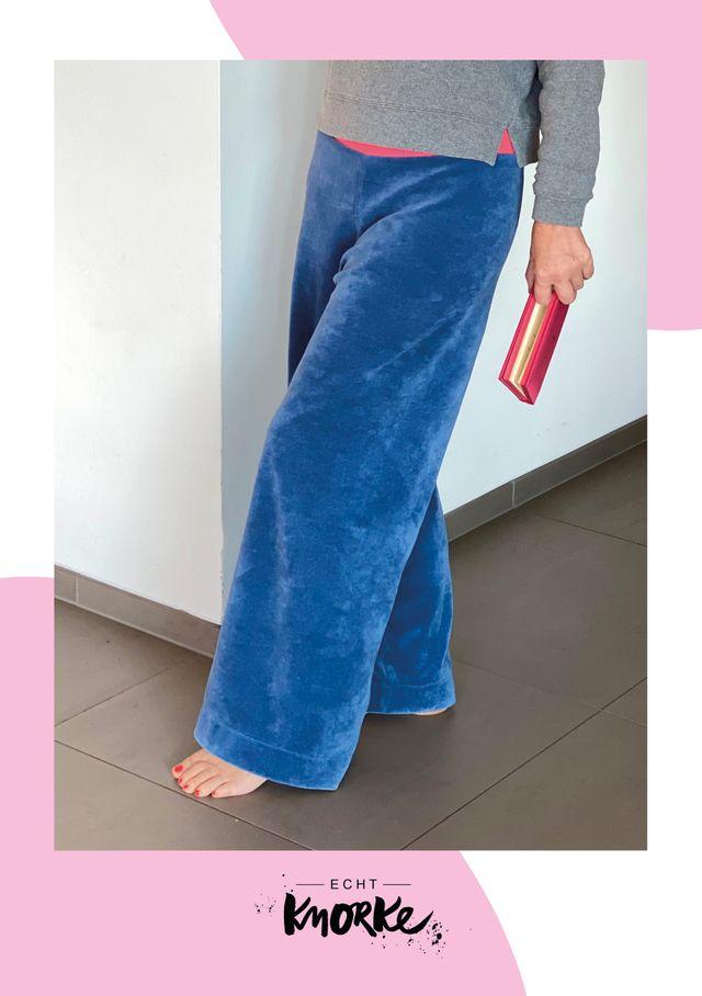 Produktfoto von echt Knorke zum Nähen für Schnittmuster Chilli Tilli Loungepants