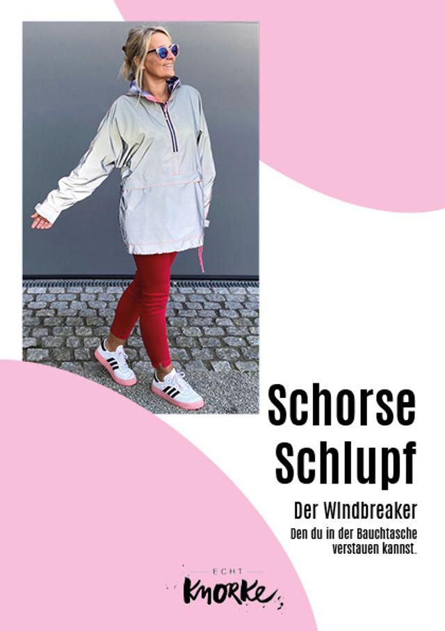 Produktfoto von echt Knorke zum Nähen für Schnittmuster Schorse Schlupf - der Windbreaker