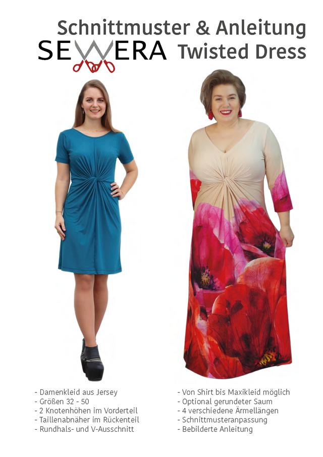 Produktfoto von sewera zum Nähen für Schnittmuster Twisted Dress
