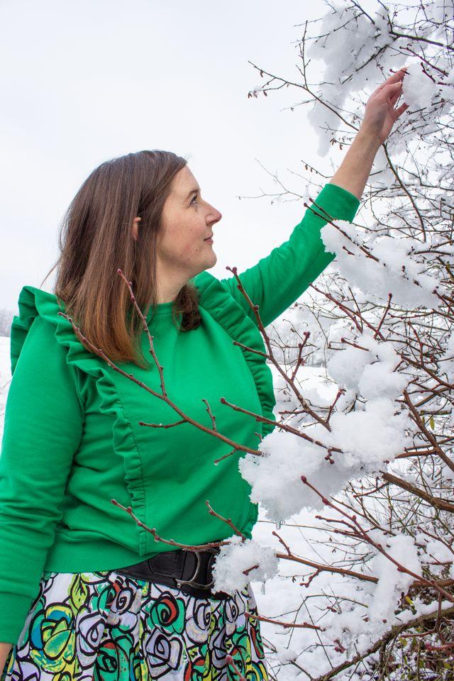 Produktfoto von einfach anziehend zum Nähen für Schnittmuster Engel im Schnee