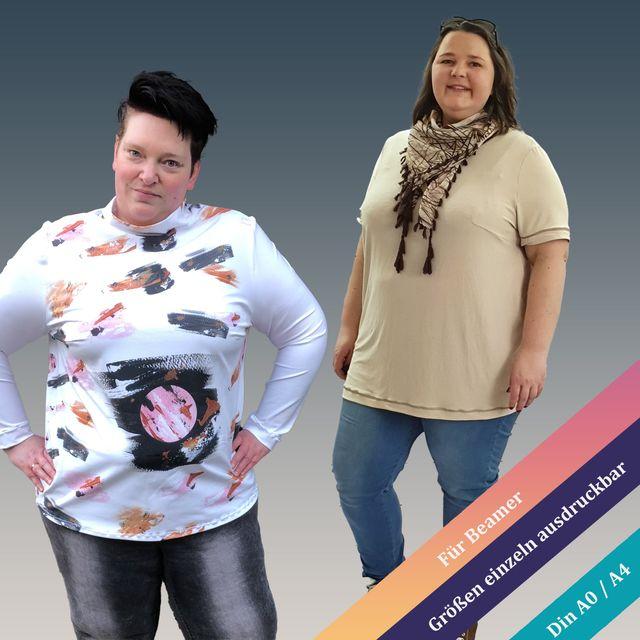 Produktfoto von Unendlich schön - Design Anita Lüchtefeld zum Nähen für Schnittmuster Basic-Shirt Bellis Curvy