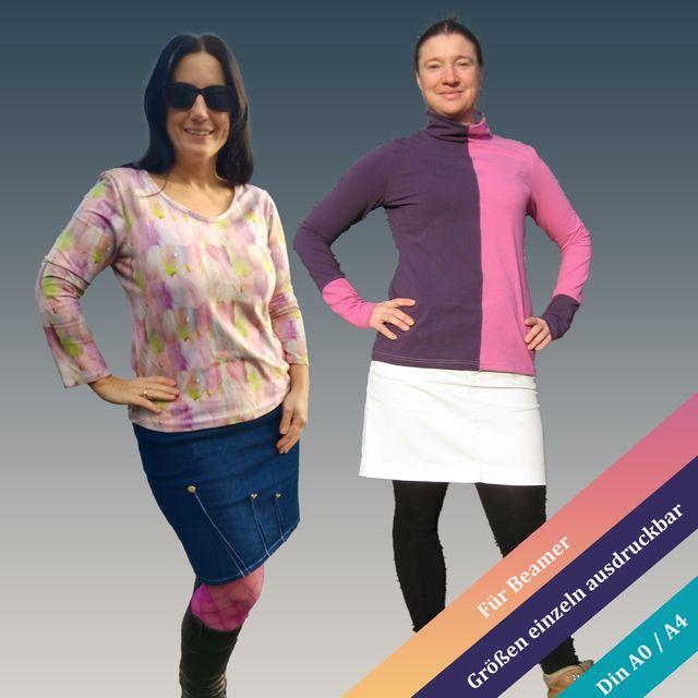 Produktfoto von Unendlich schön - Design Anita Lüchtefeld zum Nähen für Schnittmuster Basic-Shirt Bellis