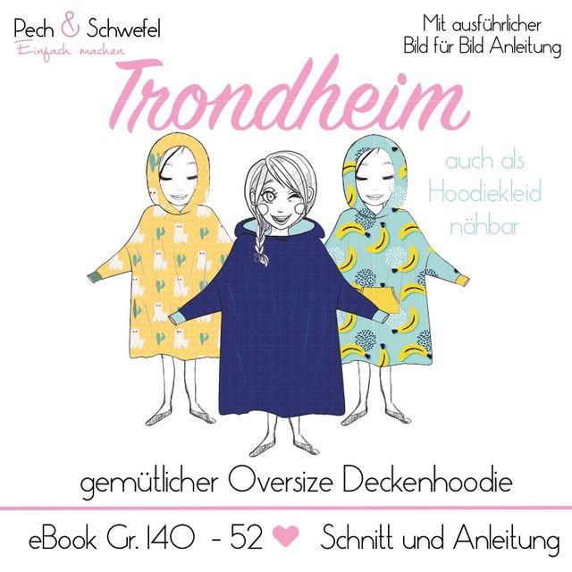 Produktfoto von Pech & Schwefel zum Nähen für Schnittmuster Hoodiedecke Trondheim