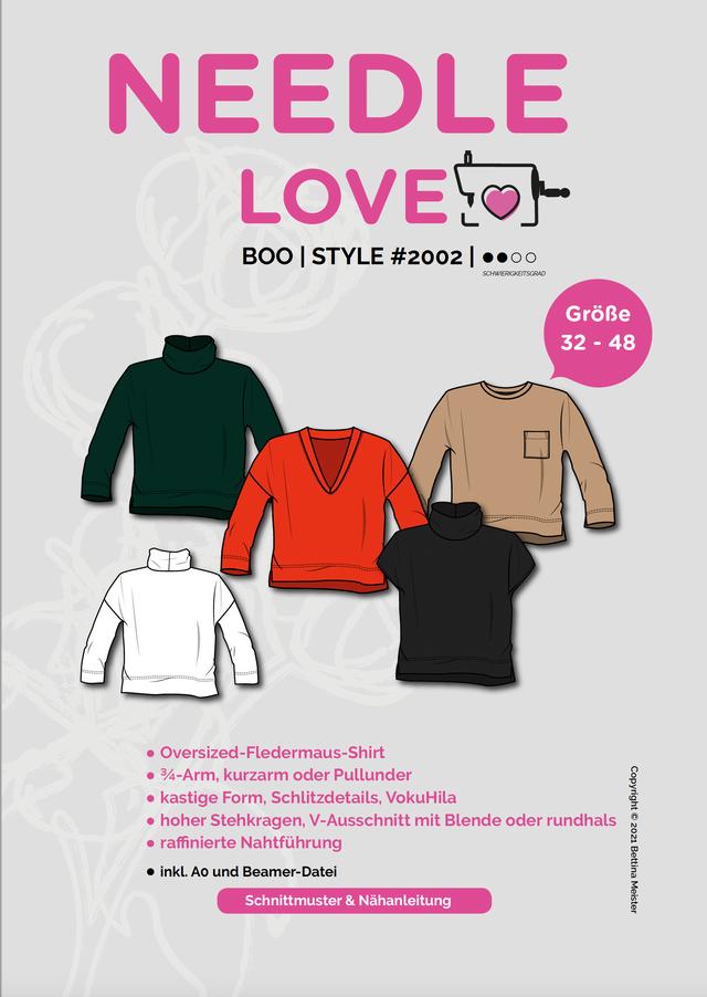 Produktfoto von {NEEDLE LOVE} zum Nähen für Schnittmuster BOOshirt