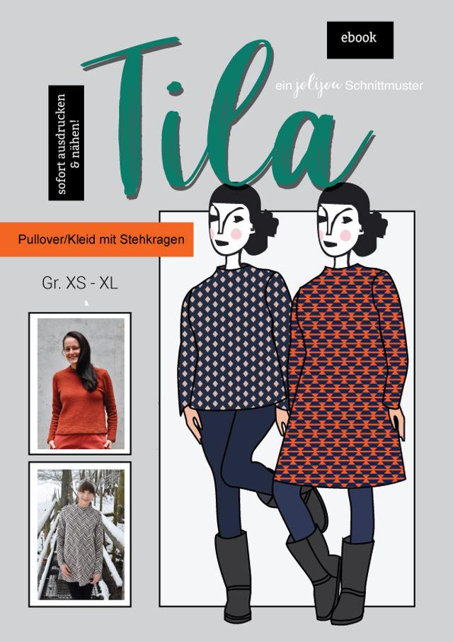 Produktfoto von Jolijou zum Nähen für Schnittmuster Pullover/Kleid Tila