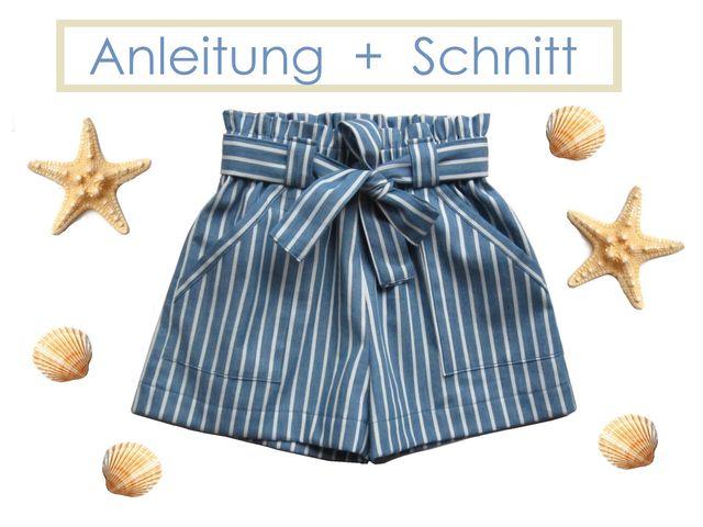 Produktfoto von Lunicum zum Nähen für Schnittmuster Paperbag-Shorts
