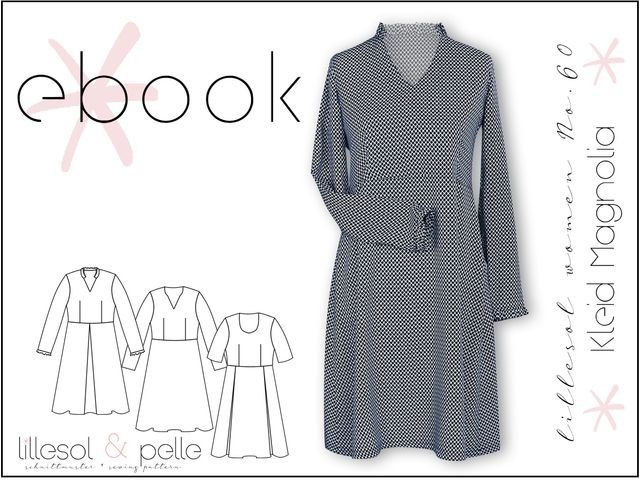 Produktfoto von Lillesol & Pelle zum Nähen für Schnittmuster Lillesol Women No. 60 Kleid Magnolia