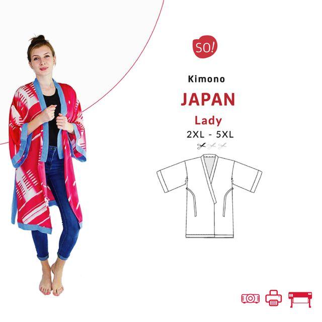 Produktfoto von SO Pattern zum Nähen für Schnittmuster Kimono Japan LADY