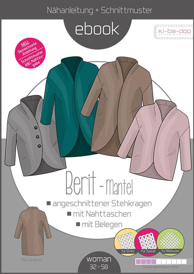 Produktfoto von ki-ba-doo zum Nähen für Schnittmuster Mantel Berit