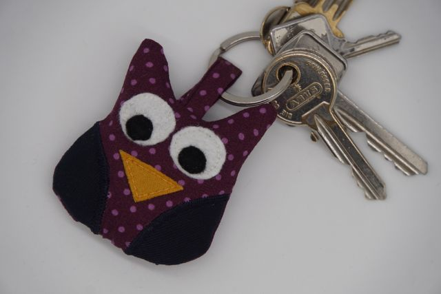 Produktfoto von Meine Schnitte.de zum Nähen für Schnittmuster Schlüsselanhänger Kleine Eule
