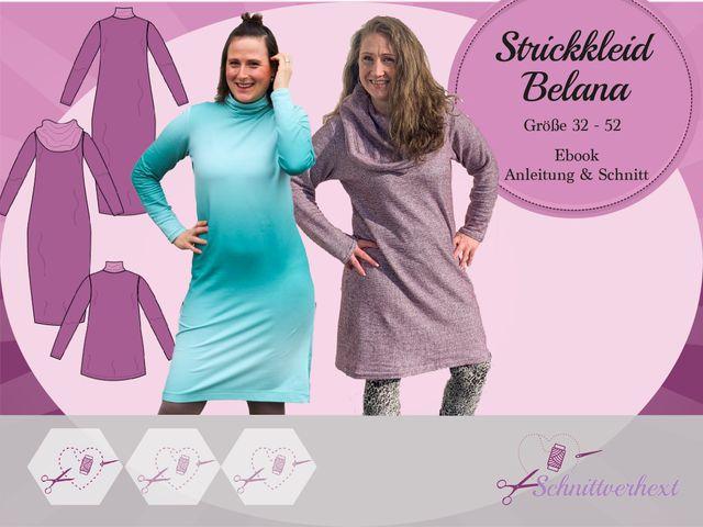 Produktfoto von Schnittverhext zum Nähen für Schnittmuster Strickkleid Belana