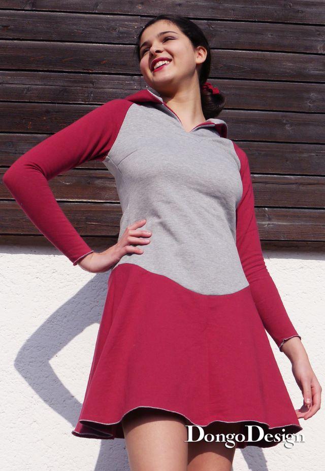 Produktfoto von DongoDesign zum Nähen für Schnittmuster Hoodie-Kleid Barbara