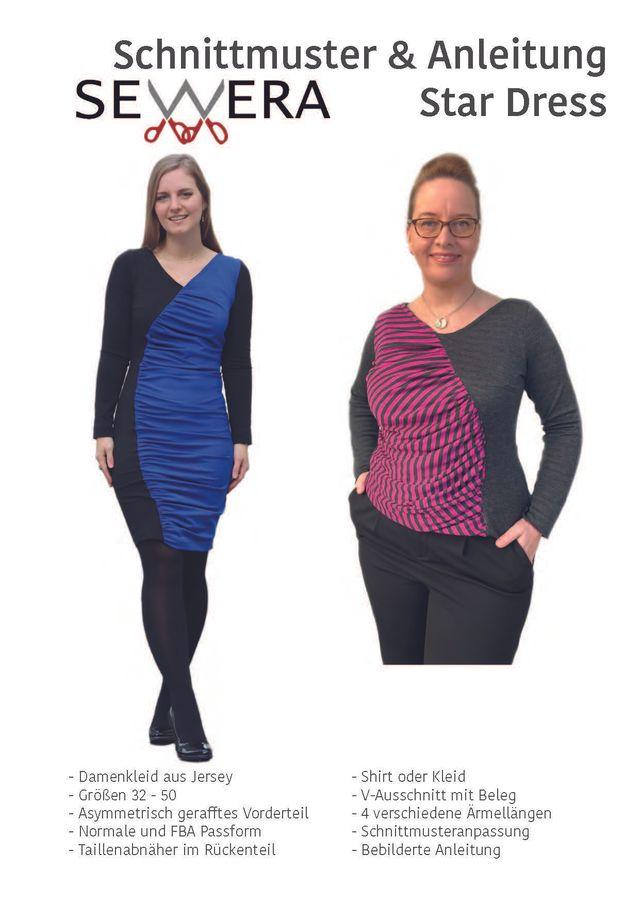 Produktfoto von sewera zum Nähen für Schnittmuster Star Dress