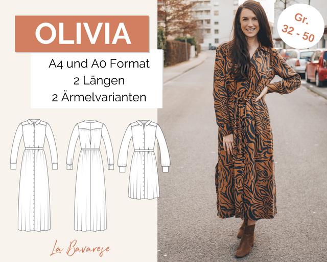 Produktfoto von La Bavarese zum Nähen für Schnittmuster Hemdblusenkleid Olivia