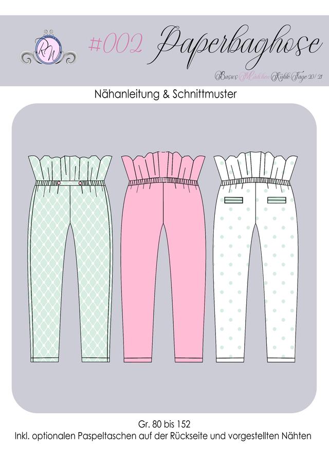 Produktfoto von Rosalieb & Wildblau zum Nähen für Schnittmuster Paperbag-Hose