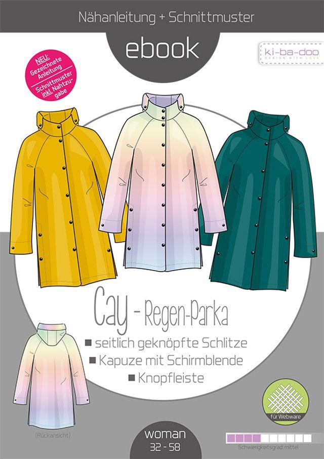 Produktfoto von ki-ba-doo zum Nähen für Schnittmuster Regen-Parka Cay